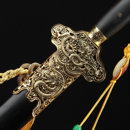 Handmade Pattern Carbon Steel China Dragon Style Chinese Swords