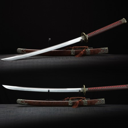 Fully Handmade Real Chinese Qing Dynasty Sword Qing Dao With Scabbard