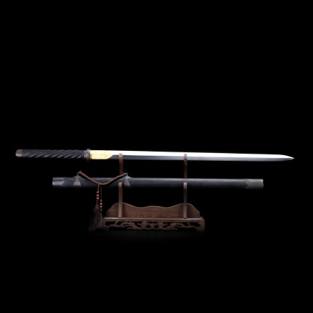 Special Full Handmade Black Copper Theme Tang Dynasty Chinese Sword Of Ming Shen