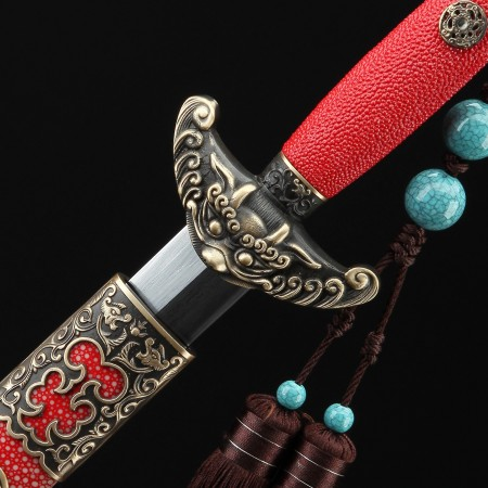 Handmade Carbon Steel Real Chinese Qing Dynasty Qianlong King Swords