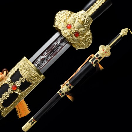 High-performance Spring Steel Chinese Tang Dynasty Sword With Ebony Scabbard