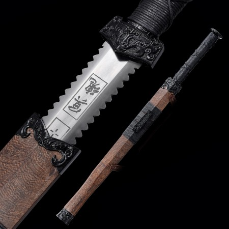 High-performance High Manganese Steel Chinese Han Dynasty Sword With Wenge Scabbard