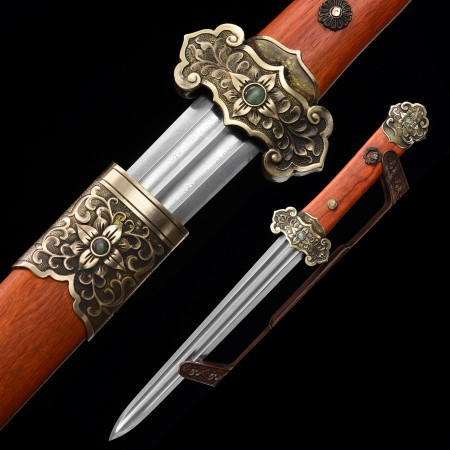 Handmade 1000 Layer Folded Steel Chinese Han Dynasty Sword With Rosewood Scabbard