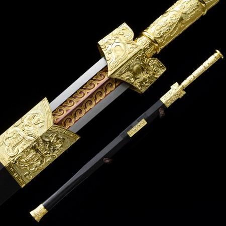 Handmade Spring Steel Branding Blade Chinese Han Dynasty Sword With Ebony Scabbard