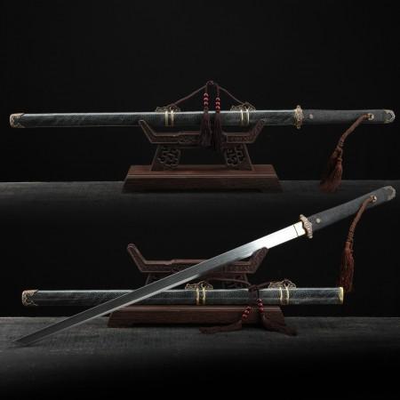 Handmade Real Rayskin Tang Dynasty Theme Chinese Huanshou Broadsword Swords