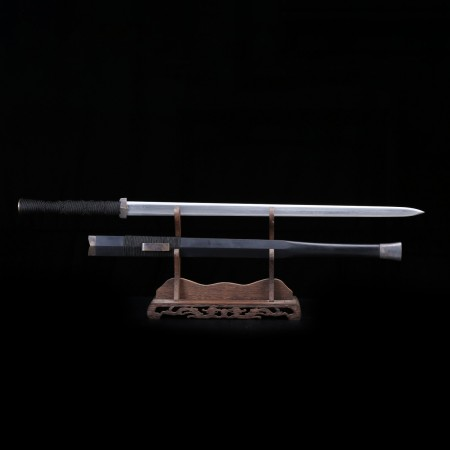 Handmade Black Wood Real Copper Damascus Steel Han Dynasty Chinese Swords