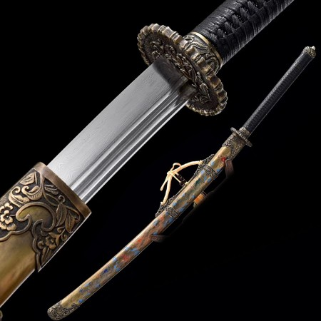 High-performance 1000 Layer Folded Steel Chinese Tang Dynasty Sword With Copper Scabbard